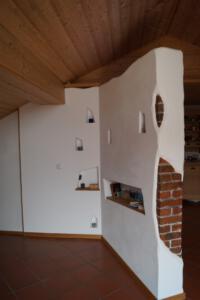 Trennwand Raumteiler Ziegel Trockenbauweise Schreinerei Sedlmeier Rott am Inn