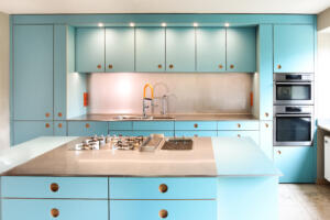 Linoleum Küche blauSchreinerei Sedlmeier Rott am Inn