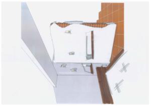 Raumteiler Ziegeloptik